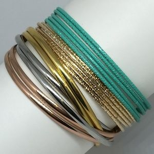Wire Bangle Set